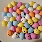 50 PASTEL SPECKLED Eggs Easter Craft Shabby Chic Birds Nest Decor Foam Blue Pink