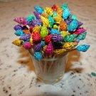 100 Dyed Seashells Toothpicks Picks Wedding Christmas Shabby Shells Skewer Beach