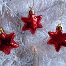 3 Mini Red Stars Ornament Tree Patriotic Fourth of July 4TH  Independence Day