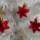 Mini Red Stars Ornament Tree Patriotic Fourth July 4TH  Independence Day Matte
