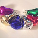 Mini Glass Bells Christmas Ornaments Feather Tree Pink Purple Red Silver Gold
