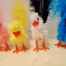 Blue Yellow Pink White Chicks Easter Crafts Decor Shabby Chic Chickens