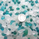 4oz Frosted Teal Glass Mini Pebbles Crafts Jewel Fairy Garden Vase Filler Mosaic