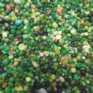 4oz Mini Green Emerald Mix Glass Pebbles Crafts Sea Aquarium Stone Jewels Gem