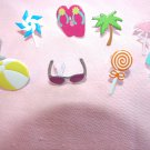 Summer Brads Flip Flops Sunglasses Ocean Beach Ball Palm Tree Candy Flamingo