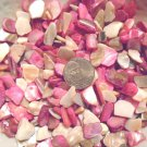 4oz Pink Beige Crushed Seashells Mosaics Vase Filler Sea Shells Craft Jewelry