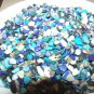 3oz.Turquoise Blue Pink Crushed Abalone Seashells Crafts Vase Filler Shell Dyed