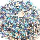 3oz MINI Mix Turquoise Dye Blue Beige Crushed Seashells Crafts Shell Vase Filler
