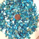 3oz Blue Turquoise Crushed Seashells Mosaics Vase Filler Shell Crafts Jewelry