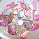 3oz  Pink Ivory Crushed Seashells Crafts Mosaics Vase Filler Sea Shells Beach