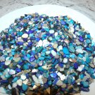 Ivory Blue Turquoise Crushed Seashells Mosaics Vase Filler Shells Beach Crafts