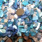 4oz Blue Beige Crushed Seashells Mosaics Vase Filler Sea Shells Beach Crafts