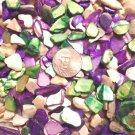 6oz Purple Green Crushed Abalone Seashells Vase Filler Sea Shells Craft Jewelry