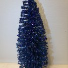 9in. Royal Blue Patriotic Tree Bottle Brush July 4th Independence Day Glitter