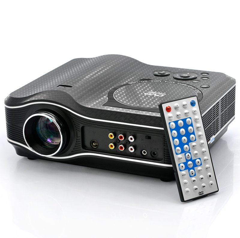 2100 Lumens DVD Projector with DVD Player Video Game Projector Beamer 400:1 Contrast US Plug