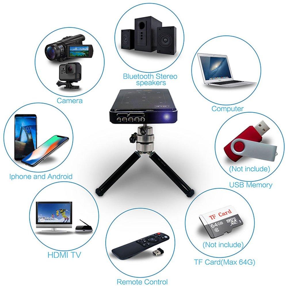 IMK95 DLP 4K HD Mini Portable Video Projector 1GB+8GB