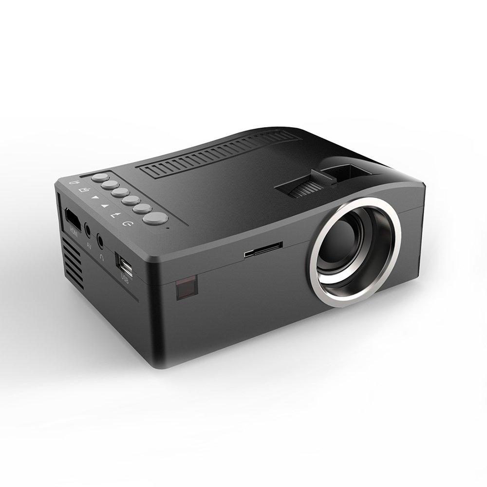 HD 1080P TFT LCD Home Mini Projector TV Multi-Media Player-Black AU Plug