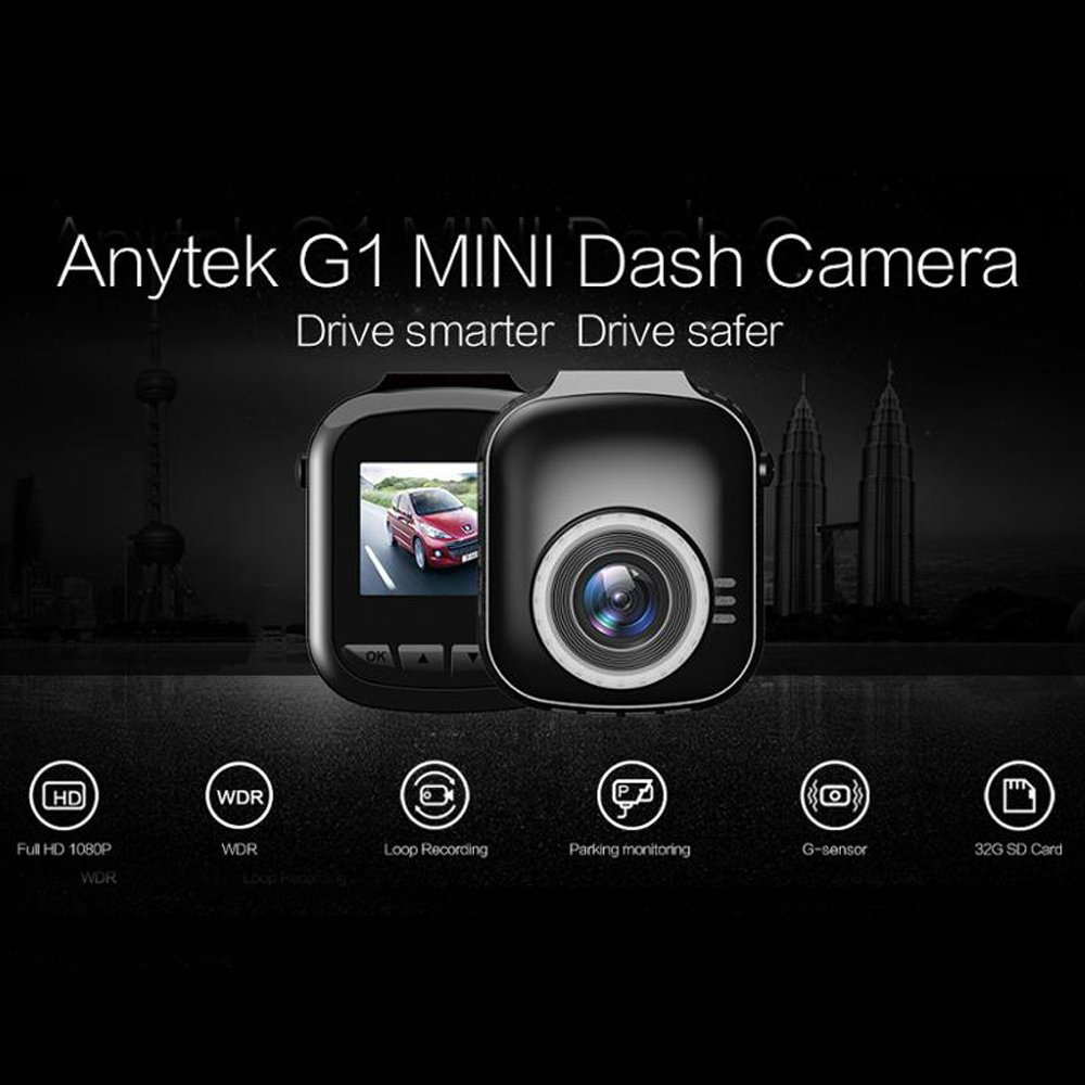 Anytek G1 120 Degree Wide Angle Ultra Mini Camera HD Car Camera Video Recorder