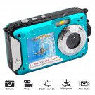 1080P Full HD Digital Underwater Camera 24MP (blue)