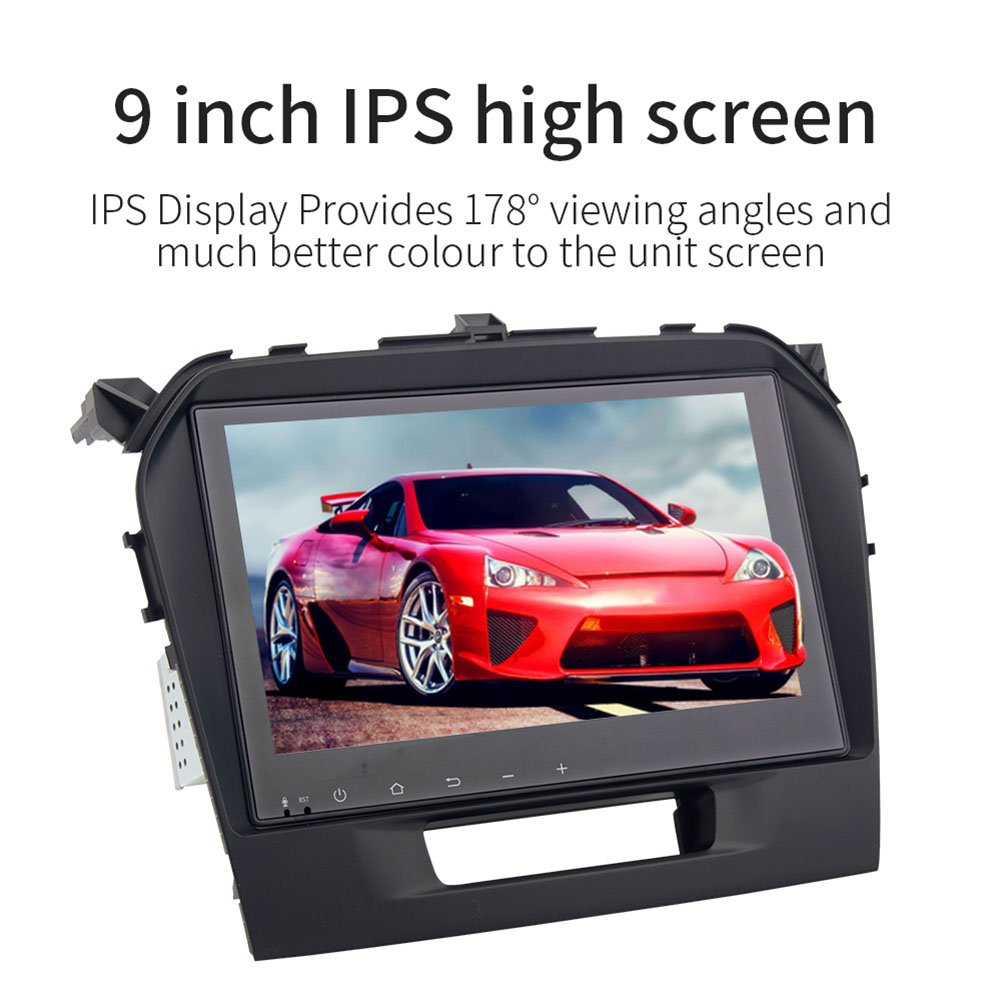 9-inch Android 9.0.1 Car GPS 1-DIN Video Player 4GB + 32GB