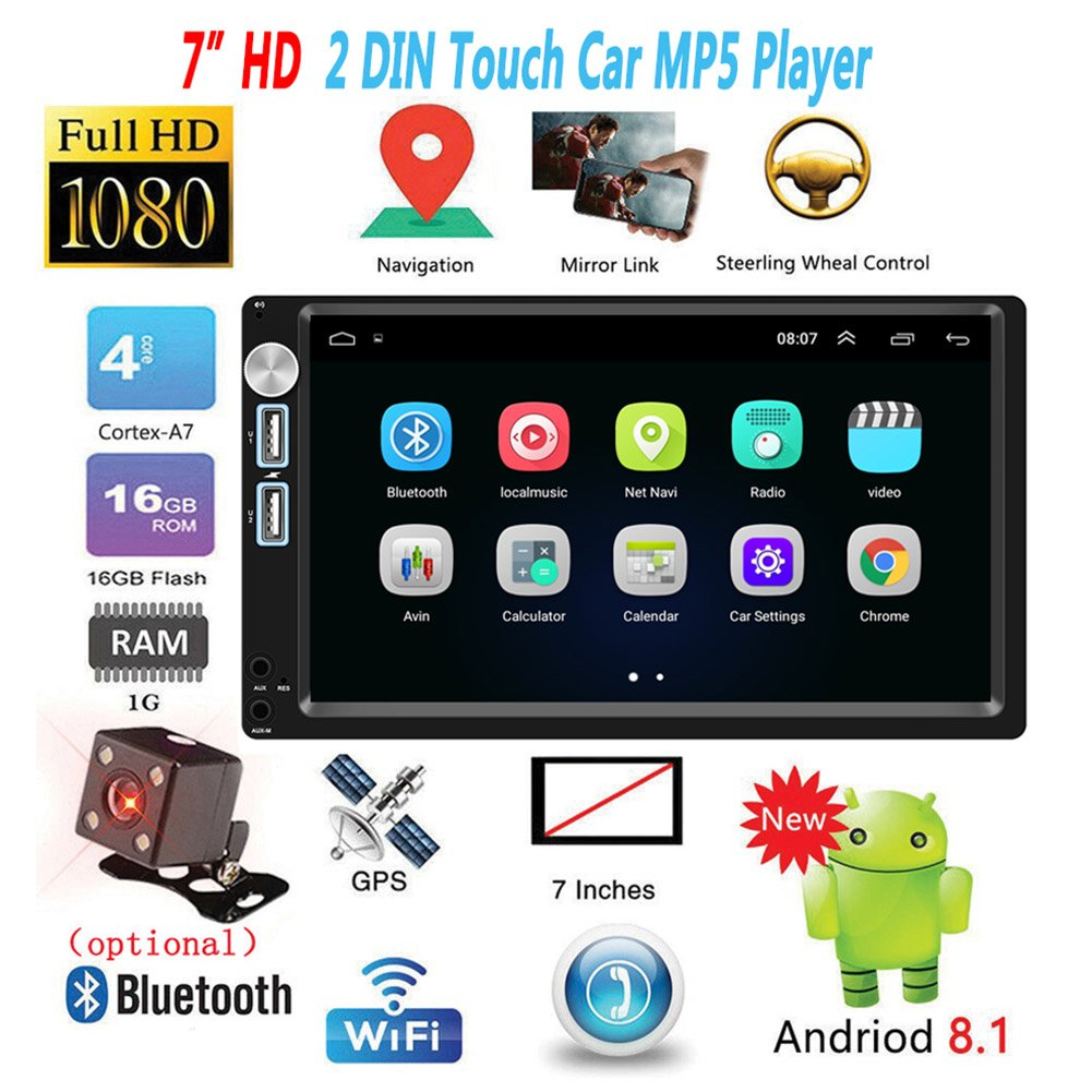 7-inch Android 8.1 2-DIN Universal Car Multimedia Player/Radio
