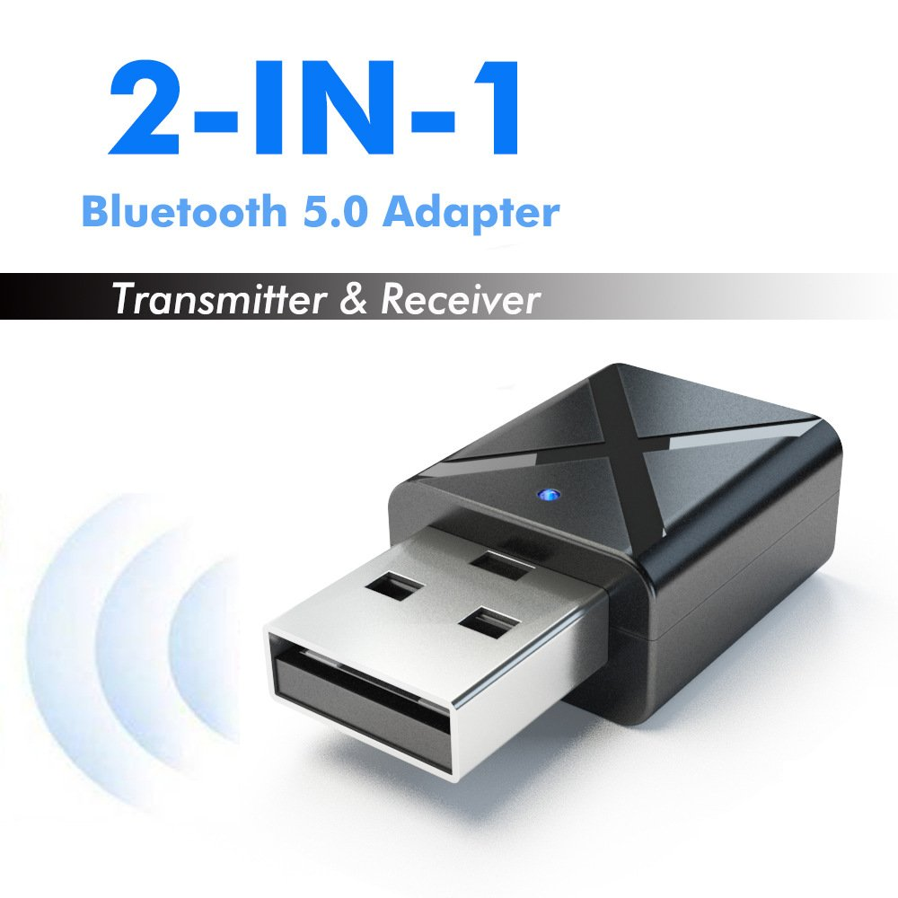 2-in-1 Bluetooth 5.0 Transmitter Receiver 3.5mm Wireless Stereo Audio Adapter