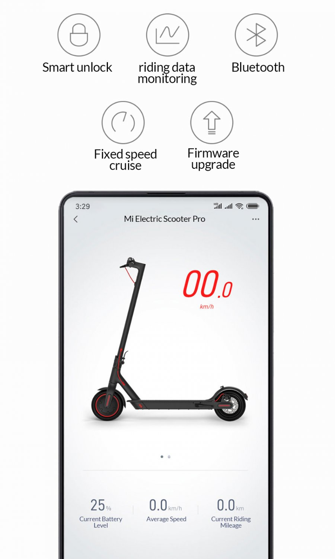 Xiaomi M365 Pro Foldable Electric Kick Scooter (Black)