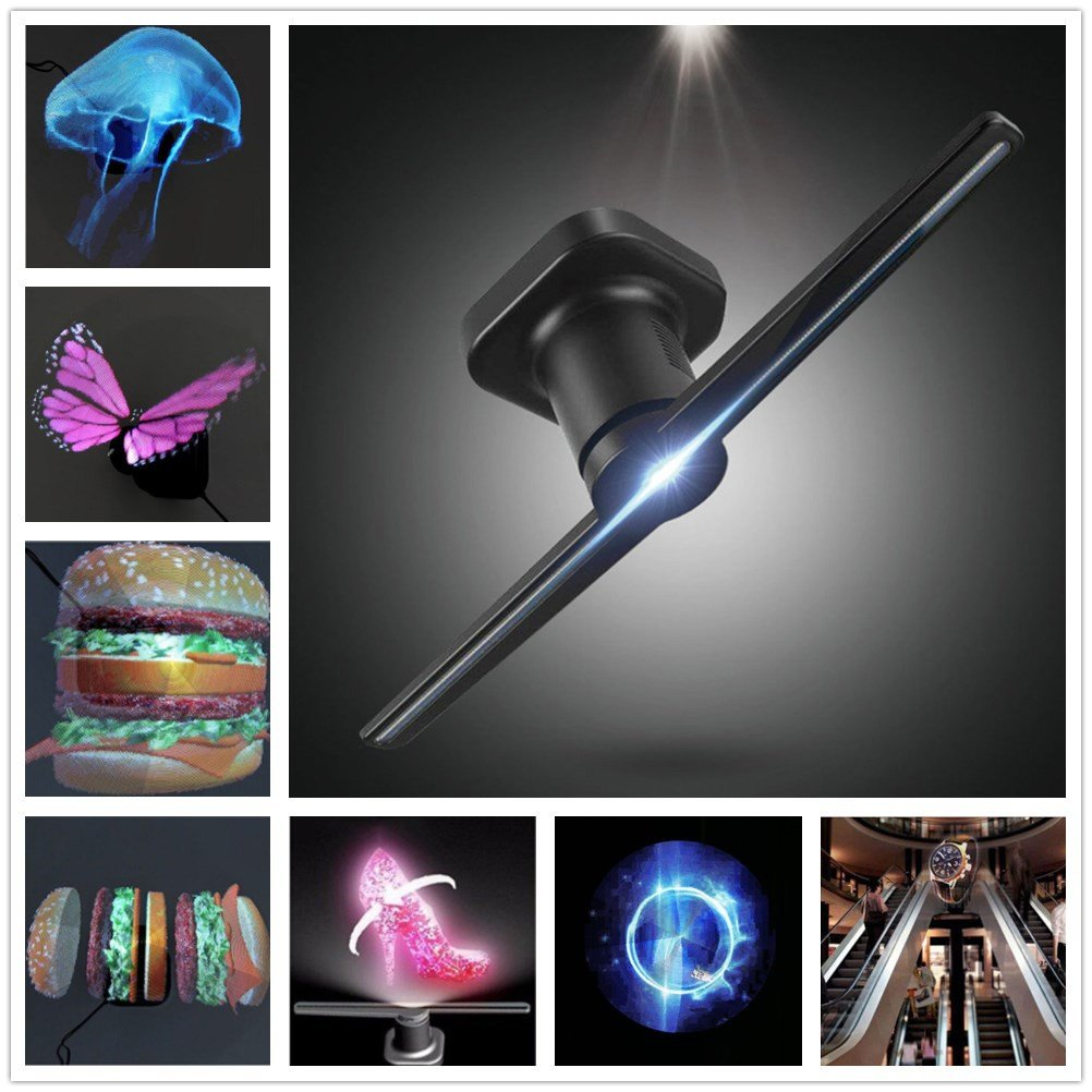 3D Advertising Display Fan Holographic Projector Hologram Player