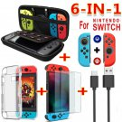 6-IN-1  Video Game Accessories Travel Carrying Bag for Nintendo Switch