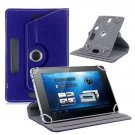 9-inch Universal 360 Degree Rotating Four Hook Leather Tablet Protection Case (Dark Blue)