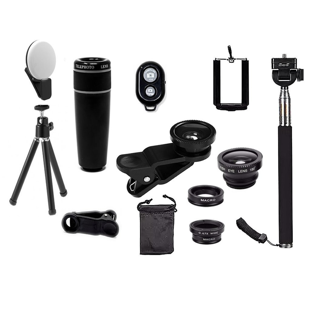 11-In-1 Smartphone Lens And Photography Selfie Bundle