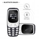 Mini Cell Phone w/ Voice Changer, Bluetooth Earphones Dialer, Dual SIM, Low Radiation (white)