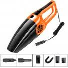 Dual- Use Wet And Dry 12-volt Handheld Car Vacuum Cleaner (Orange & Black)