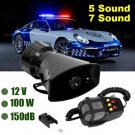7-Sound Air Horn Police Fire Car Siren Alarm PA LoudSpeaker