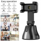 Selfie Stick 360 Degree Rotation Facial + Object Auto Tracking Camera Phone Holder (black)