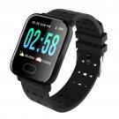 A6 Heart Rate Blood Pressure Waterproof Smart Bracelet Smartwatch (Black)