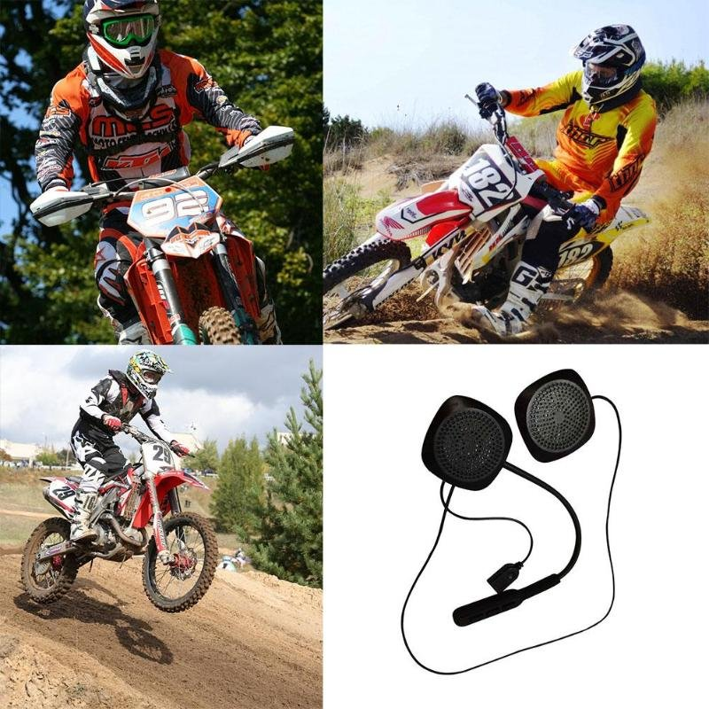 Motorcycle Helmet Bluetooth Intercom Headset (Black)