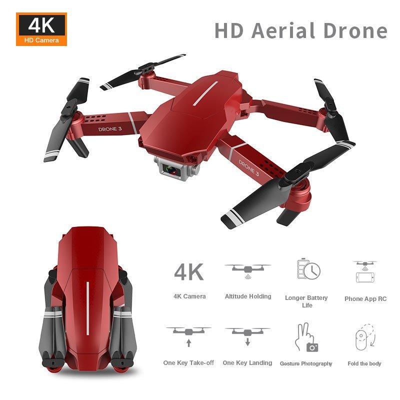 F98 Quadcopter 4K UHD Camera Drone Wide Angle Wifi Fpv Video Live Recording 20 Mins Flight Time