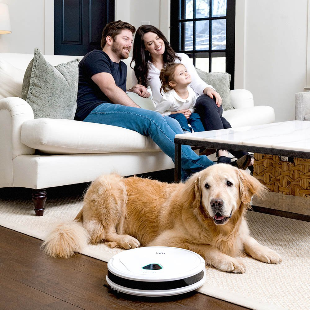 TRIFO Max e-comm Robot Vacuum Cleaner with AI Security Video Recording silver white_