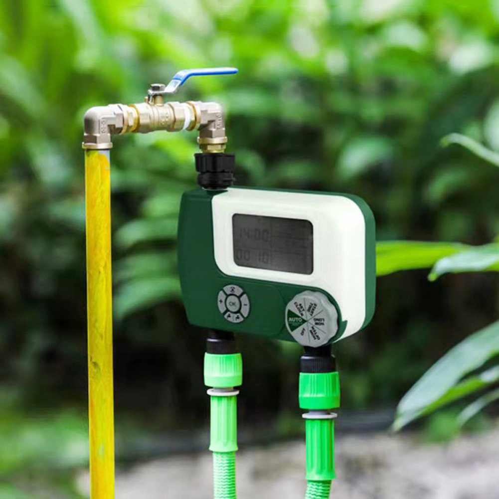 Electronic Large Screen Digital Irrigation Garden Watering Timer (green)