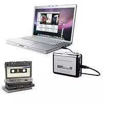 2-in-1 Audio Cassette to MP3 converter (includes Super USB Cassette Capture software)