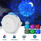 LED Projector 360 Degree Rotating Night Light Starry Ocean Wave Projection 6 Colors for Kids