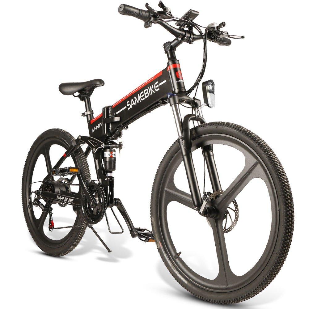 SAMEBIKE LO26 e-BIKE 20-inch wheels, Var. Speed, 350W Motor 25Km/ hr USB 2.0 phone charger(Black)