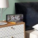 Stylish LED Mini Cosmetic Mirror Electronic Bedside Alarm Clock