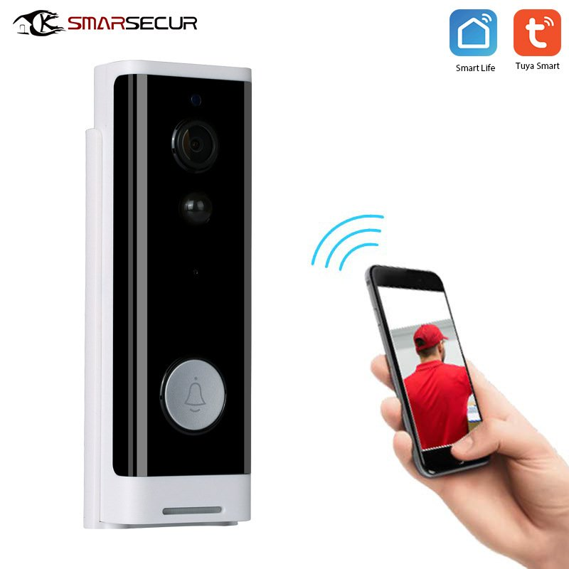 Intelligent WIFI Doorbell Wireless Visual Talkback Mobile Phone Remote Doorbell (black)