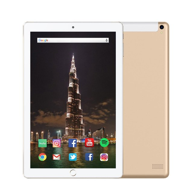 10.1-inch Android Tablet PC 4GB+64GB Wi-Fi Phablet (Gold)