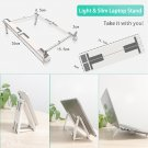 Multifunctional Foldable Three-in-one Laptop PC Stand (Grey White)