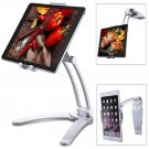Adjustable Tablet PC/ iPad Stand or Wall Mount for 4-10.5-inch devices (Silver)