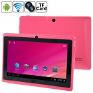7-inch Children's Tablet Quad-core Android 4.4 Dual Camera Wi-Fi  Multi-function Tablet Pc (Pink)