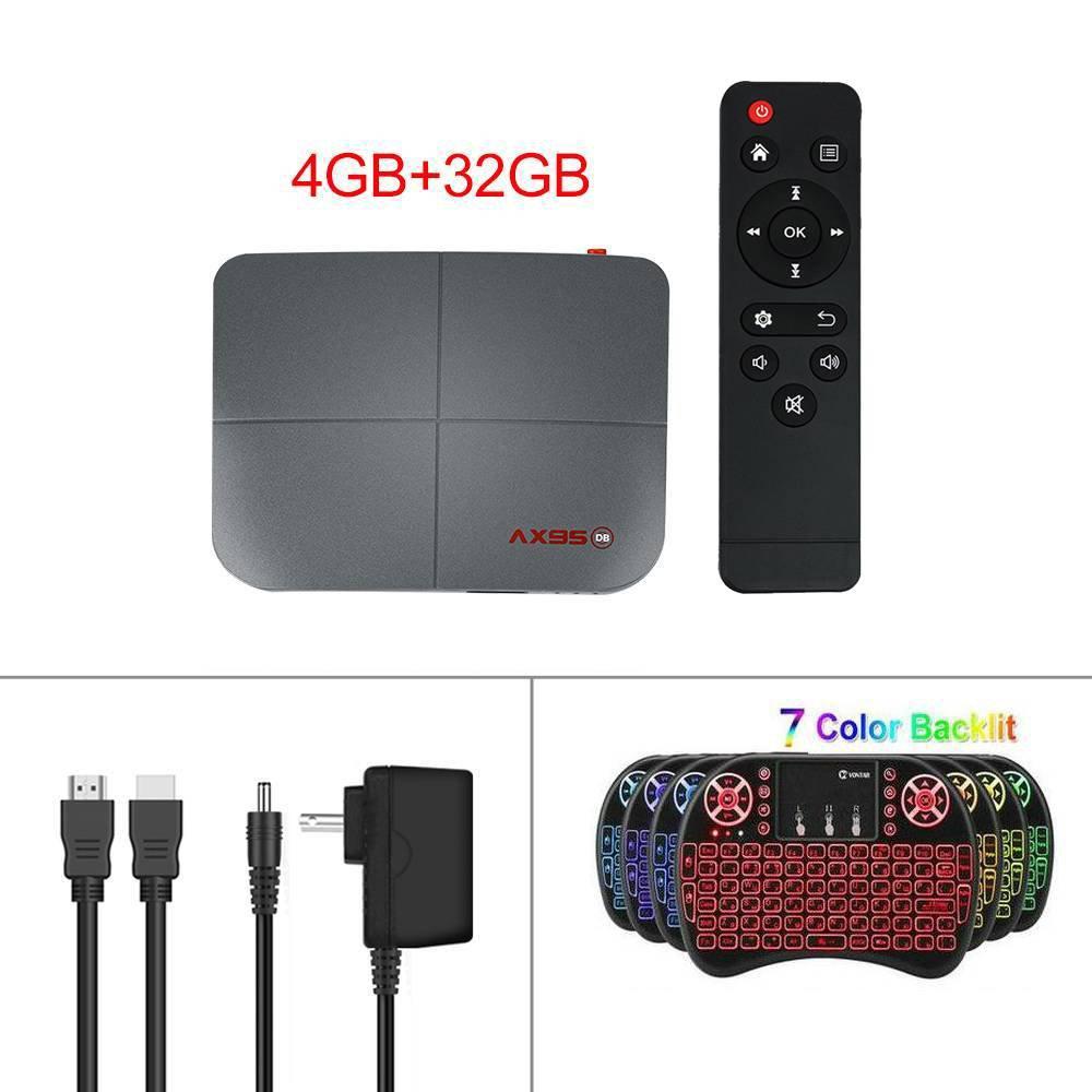AX95 DB 8K Ultra HD TV Box (Media Player) + I8 7-color backlit keyboard 4GB+32GB